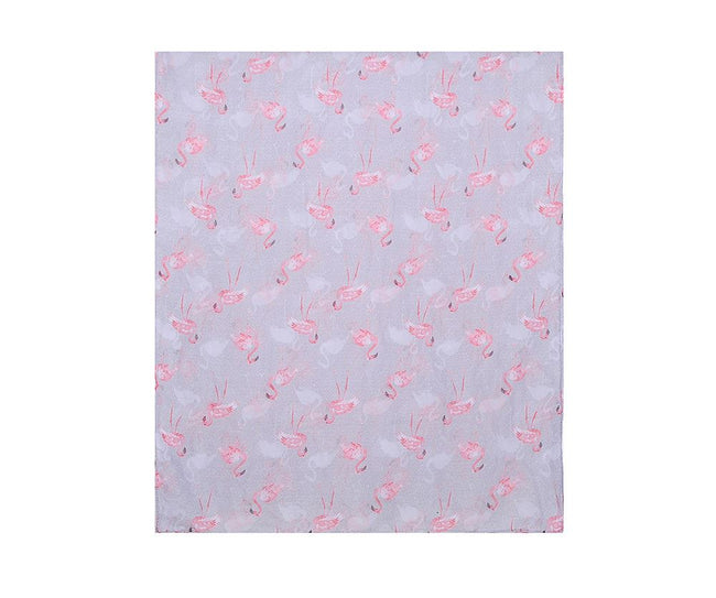 Grey - Back - Catherine Lansfield Womens-Ladies Flamingo Print Scarf