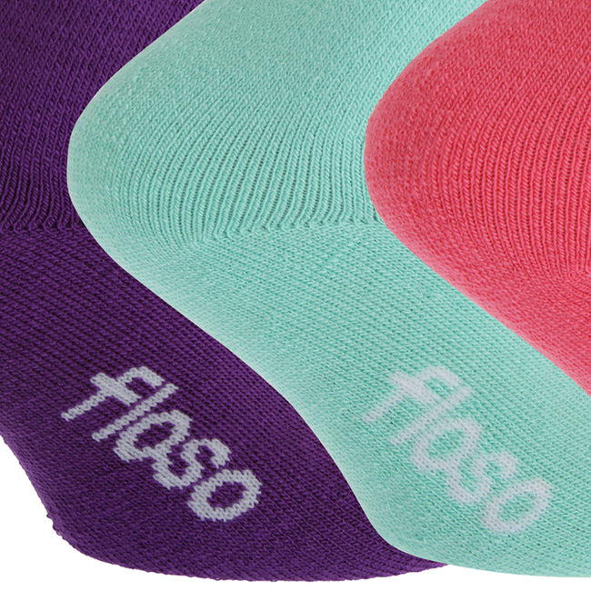 Black-Grey-Navy - Front - FLOSO Childrens Boys-Girls Winter Thermal Socks (Pack Of 3)