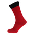 Red-Black - Front - Apto Childrens-Kids Contrast Football Socks