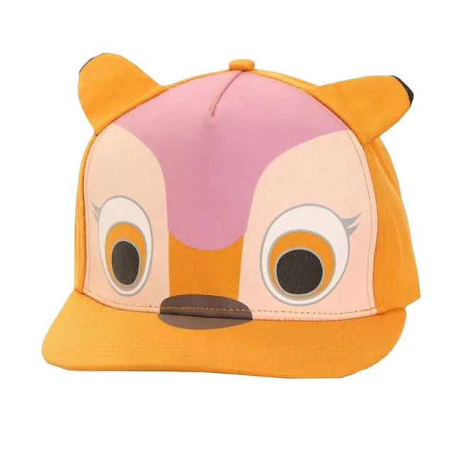 Gold (Deer) - Front - Childrens-Kids 3D Animal Design Flat Peak Snapback Baseball Cap
