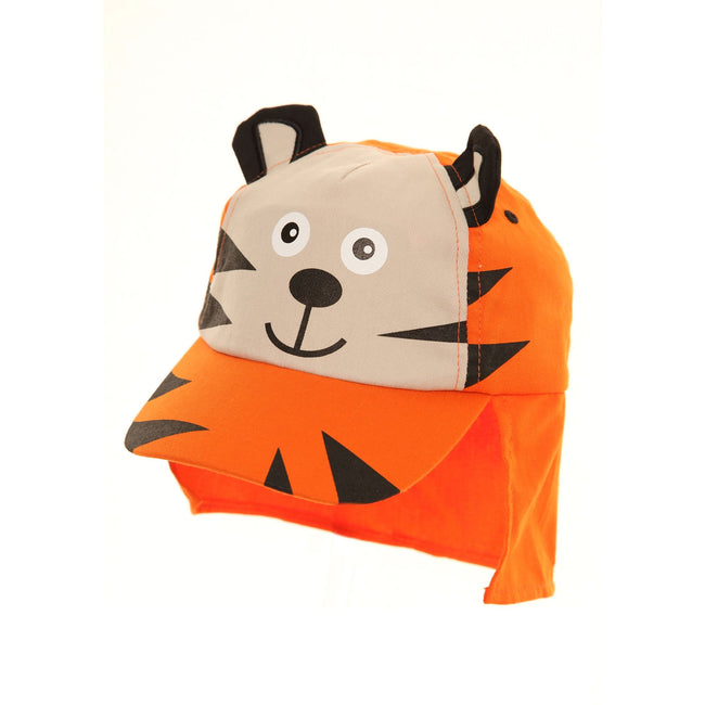 Tiger - Front - Childrens Boys 3D Tiger-Monster Design Legionnaire Baseball Cap