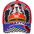 Red - Front - Disney Childrens-Kids Mickey Mouse Racing Cap