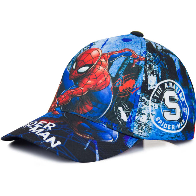 Blue - Front - Spiderman Childrens-Kids The Amazing Spiderman Baseball Cap