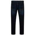 Moonlight Blue - Back - Kam Jeanswear Mens Garcia Belted Low Waist Stretch Jeans