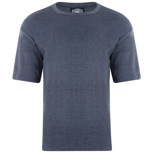 Charcoal - Front - Kam Jeanswear Mens Thermal T-Shirt