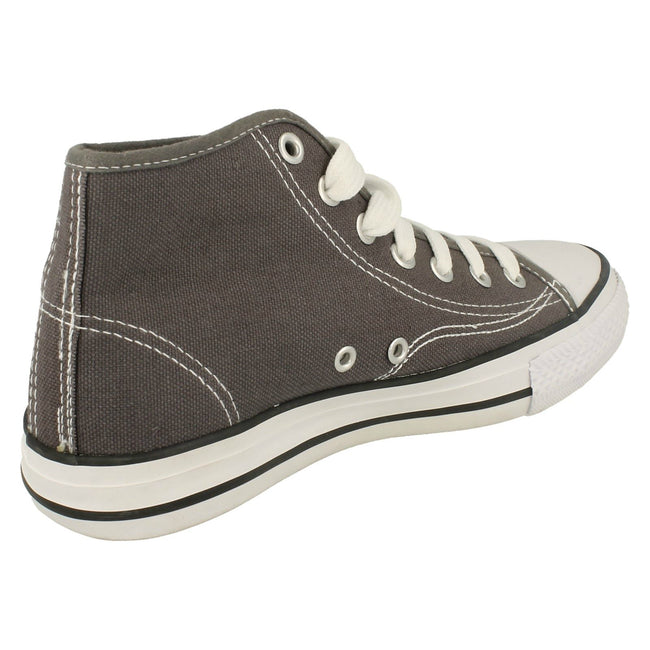 Grey - Lifestyle - Spot On Childrens Boys Canvas Baseball Boots