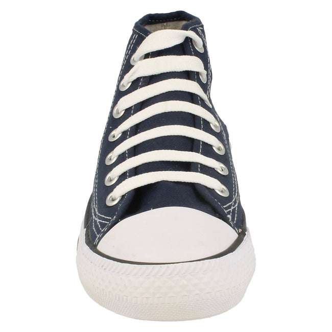 Navy - Front - Spot On Childrens Boys Canvas Baseball Boots