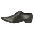 Black - Back - Mens Lambretta Formal Lace Up Brogue Shoes Bradley