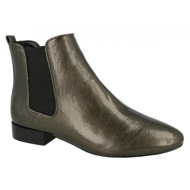 Grey - Lifestyle - Spot On Womens-Ladies Slip On Ankle Boots