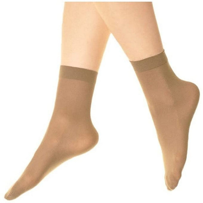 New Mink - Front - Silky Womens-Ladies Opaque 40 Denier Ankle Highs (3 Pairs)