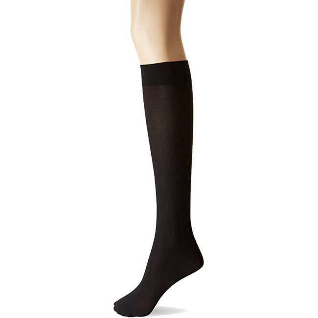 Black - Back - Silky Womens-Ladies Opaque 70 Denier Knee Highs (1 Pair)