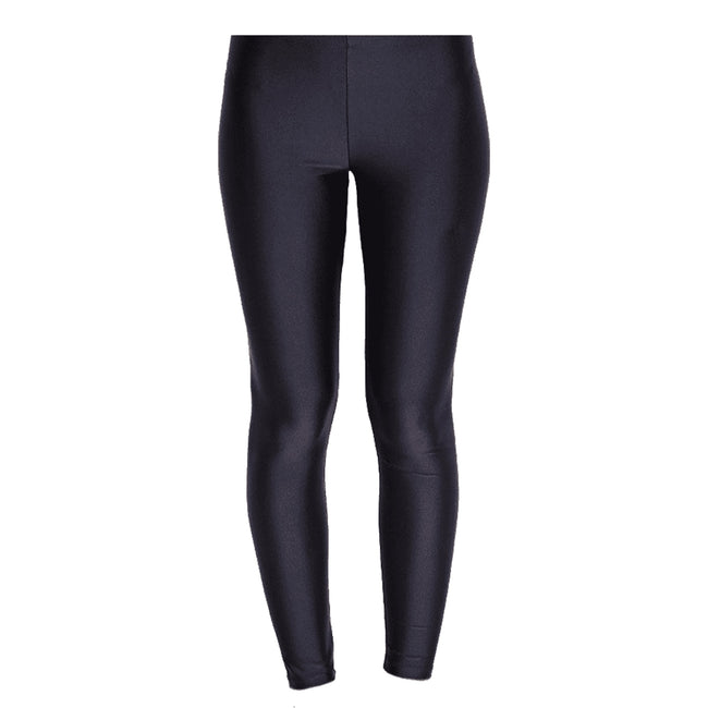 Black - Front - Silky Womens-Ladies Shimmer Look Fashion Leggings (1 Pair)