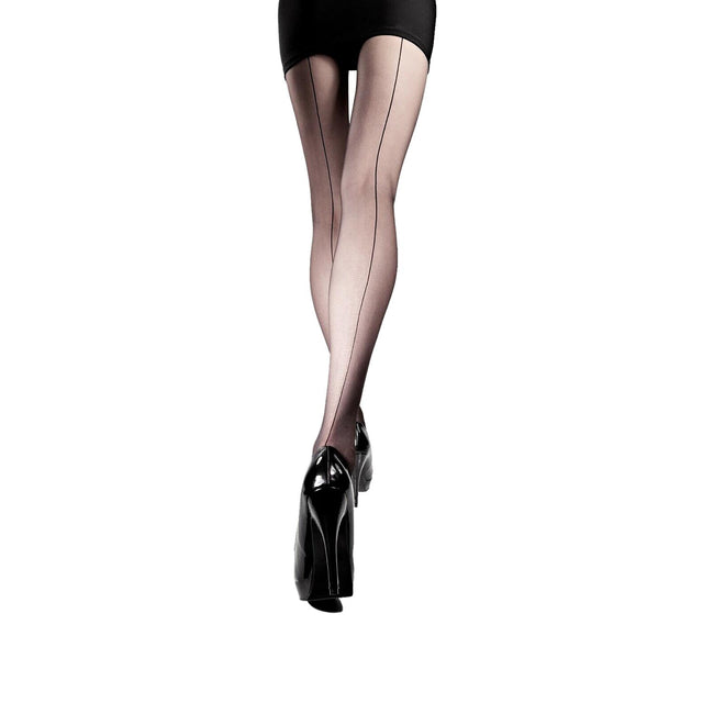 Black - Front - Silky Womens-Ladies Smooth Knit Backseam Tights (1 Pair)