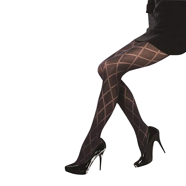 Black - Front - Silky Womens-Ladies Scarlet Diamond Opaque Tights (1 Pair)