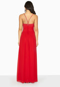 Red - Lifestyle - Girls On Film Womens-Ladies Endlessly Chiffon Maxi Dress