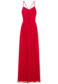 Red - Close up - Girls On Film Womens-Ladies Endlessly Chiffon Maxi Dress