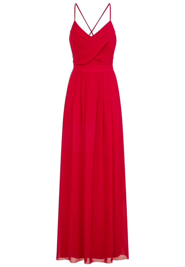 Red - Front - Girls On Film Womens-Ladies Endlessly Chiffon Maxi Dress