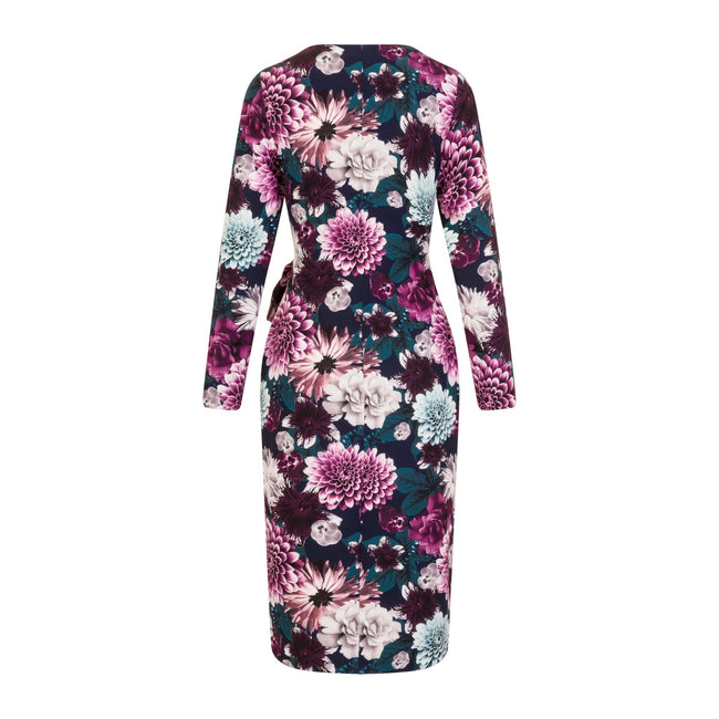 Floral - Back - Paper Dolls Womens-Ladies Paxton Wrap Dress