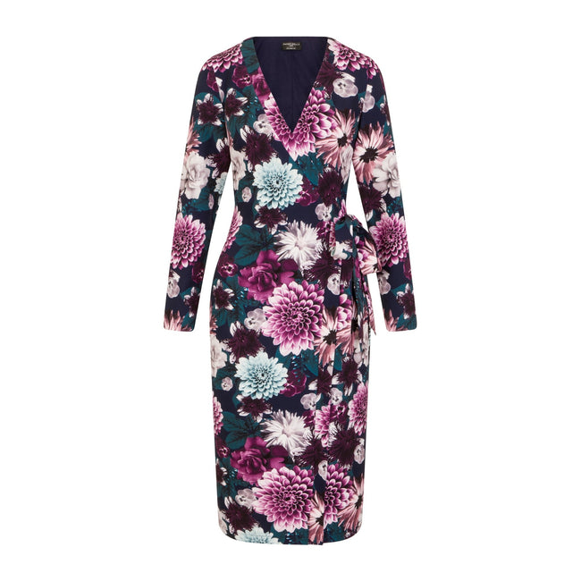 Floral - Front - Paper Dolls Womens-Ladies Paxton Wrap Dress