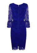 Cobalt Blue - Back - Paper Dolls Womens-Ladies Marlborough Lace Fluted Dress