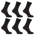 Shades Of Brown - Front - Mens Stay Up Non Elastic Diabetic Socks (Pack Of 6)