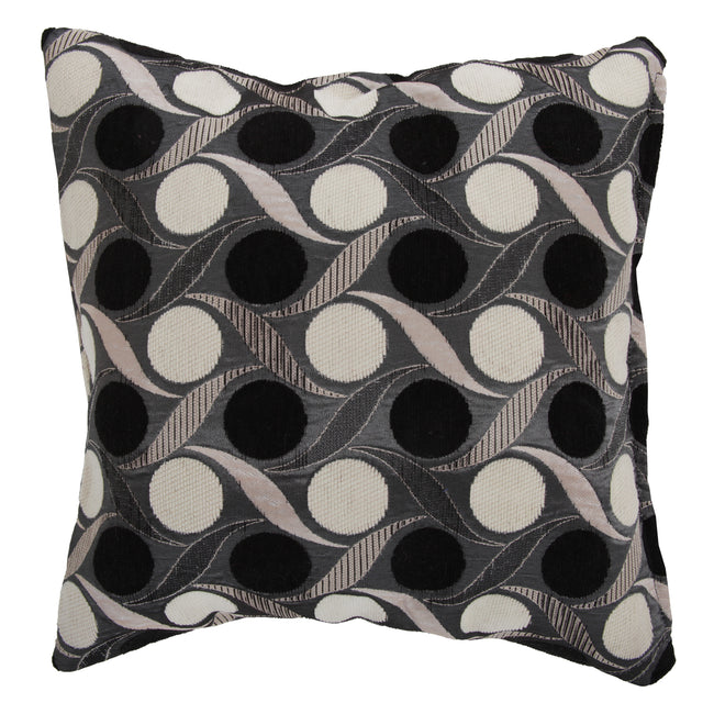 Black - Front - Miami Patterned Cushion Cover In 7 Colours (Cushion Pad Not Included)