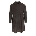 Check Design - Front - Harvey James Mens Striped Long Sleeve Nightshirt