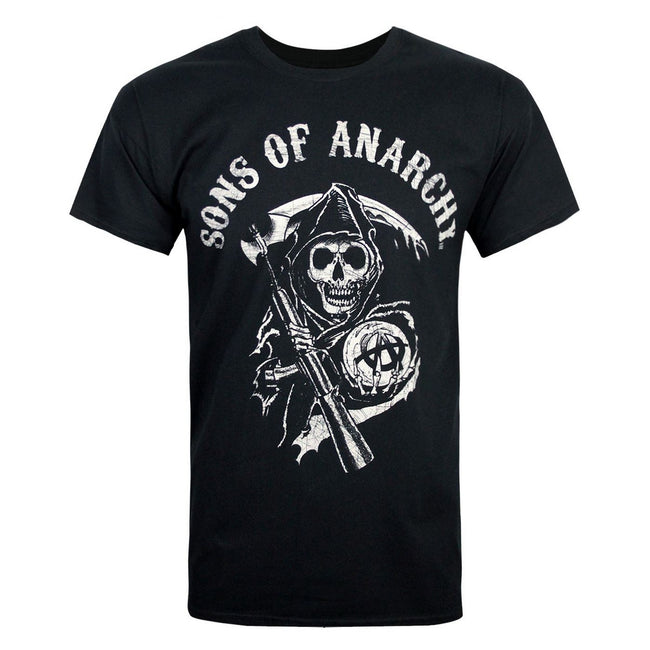 Black - Front - Sons Of Anarchy Official Mens Reaper Mens T-Shirt
