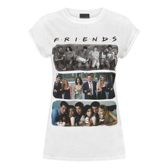 White - Front - Friends Womens-Ladies Characters T-Shirt