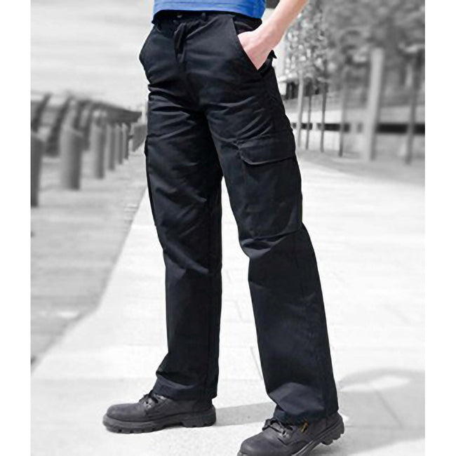 Harbour Navy - Back - Warrior Womens-Ladies Cargo Workwear Trousers