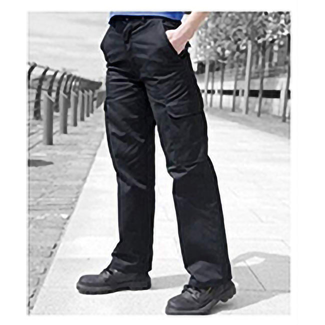 Black - Back - Warrior Womens-Ladies Cargo Workwear Trousers