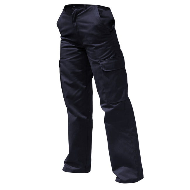 Harbour Navy - Front - Warrior Womens-Ladies Cargo Workwear Trousers