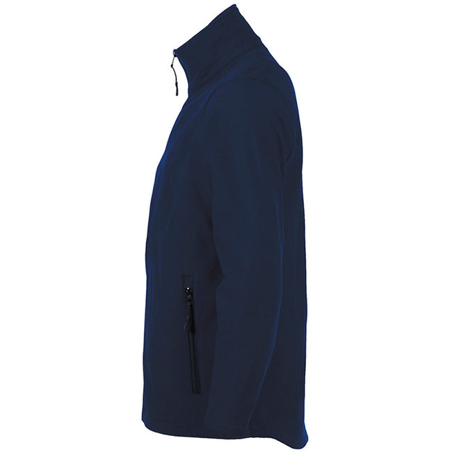 French Navy - Side - SOLS Mens Race Full Zip Water Repellent Softshell Jacket