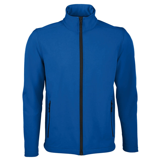 Royal Blue - Front - SOLS Mens Race Full Zip Water Repellent Softshell Jacket