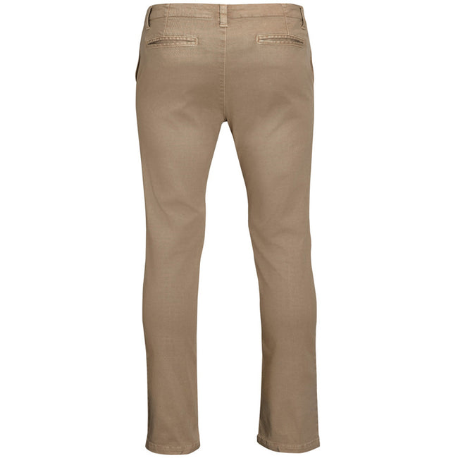 Chestnut - Back - SOLS Mens Jules Chino Trousers