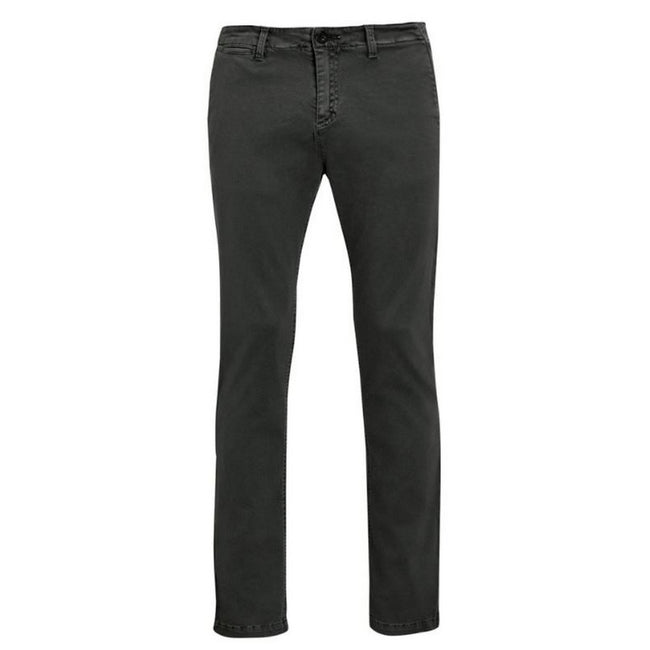 Charcoal - Front - SOLS Mens Jules Chino Trousers