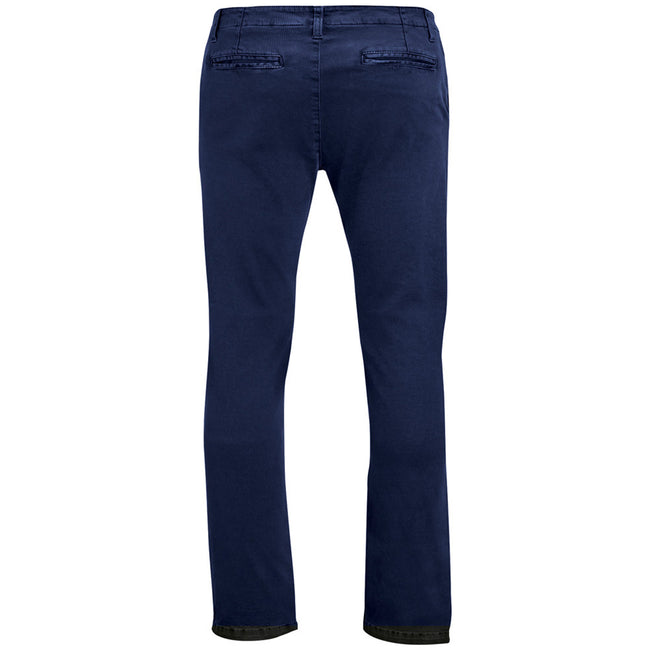 French Navy - Back - SOLS Mens Jules Chino Trousers