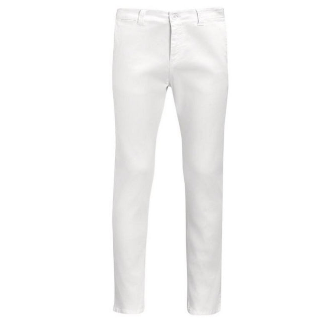 White - Front - SOLS Mens Jules Chino Trousers
