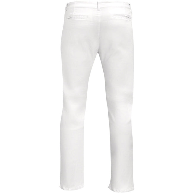 White - Back - SOLS Mens Jules Chino Trousers