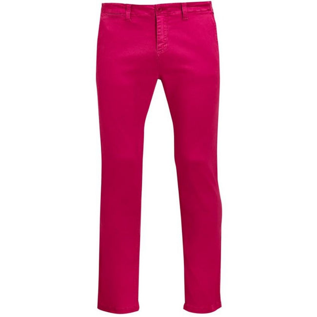 Sunset Pink - Front - SOLS Mens Jules Chino Trousers