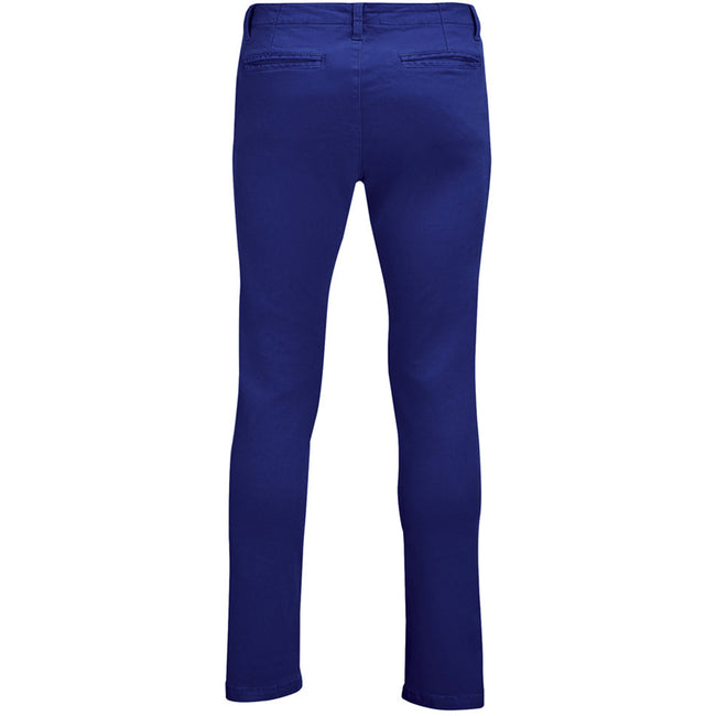 Ultramarine - Back - SOLS Mens Jules Chino Trousers