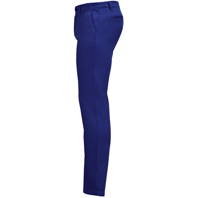 Ultramarine - Side - SOLS Mens Jules Chino Trousers