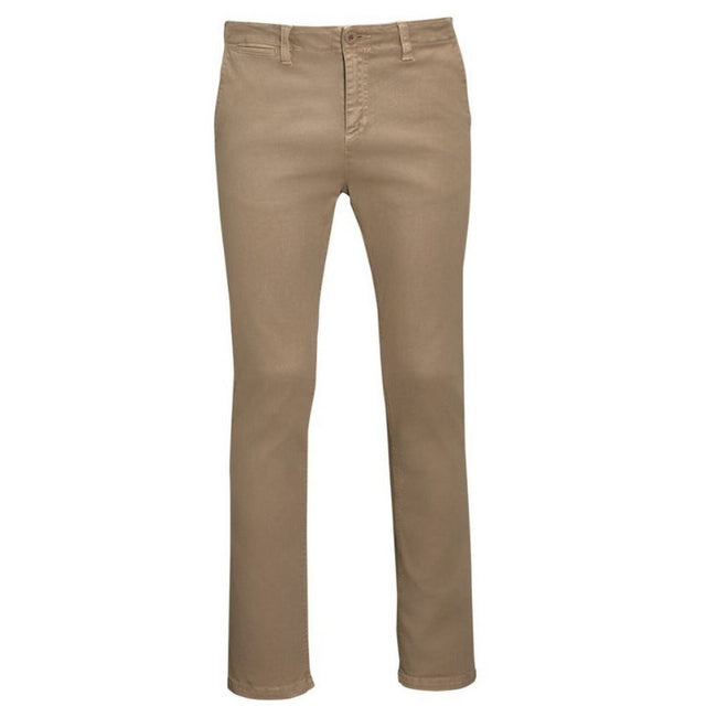 Chestnut - Front - SOLS Mens Jules Chino Trousers