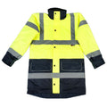 Fluorescent Yellow - Back - Warrior Mens Denver High Visibility Safety Jacket