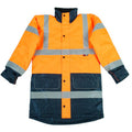 Fluorescent Orange - Back - Warrior Mens Denver High Visibility Safety Jacket