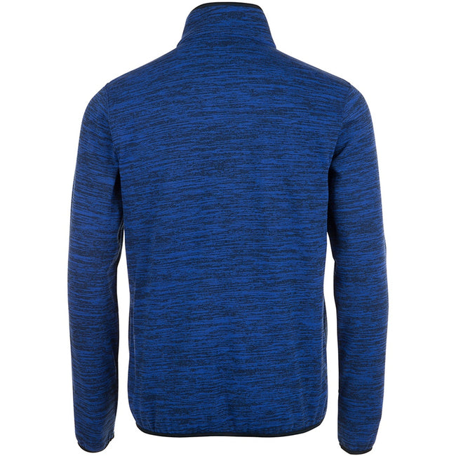 Navy Pro-Bugatti Blue - Back - SOLS Mens Turbo Pro Knitted Fleece Jacket