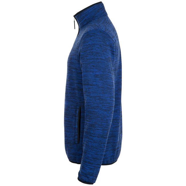 Navy Pro-Bugatti Blue - Side - SOLS Mens Turbo Pro Knitted Fleece Jacket
