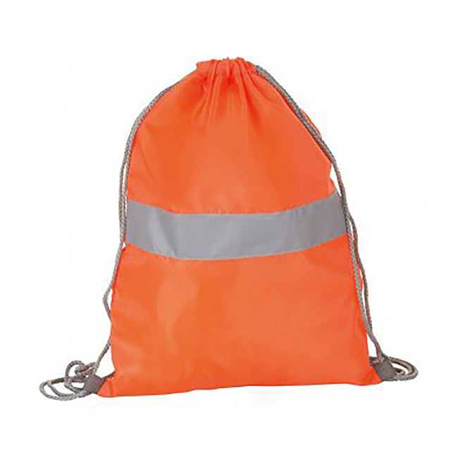 Neon Orange - Front - SOLS Unisex Reflect Hi-Vis Gymsac