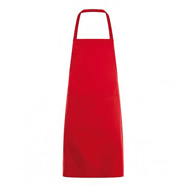 Red - Front - SOLS Unisex Gramercy Bib Apron