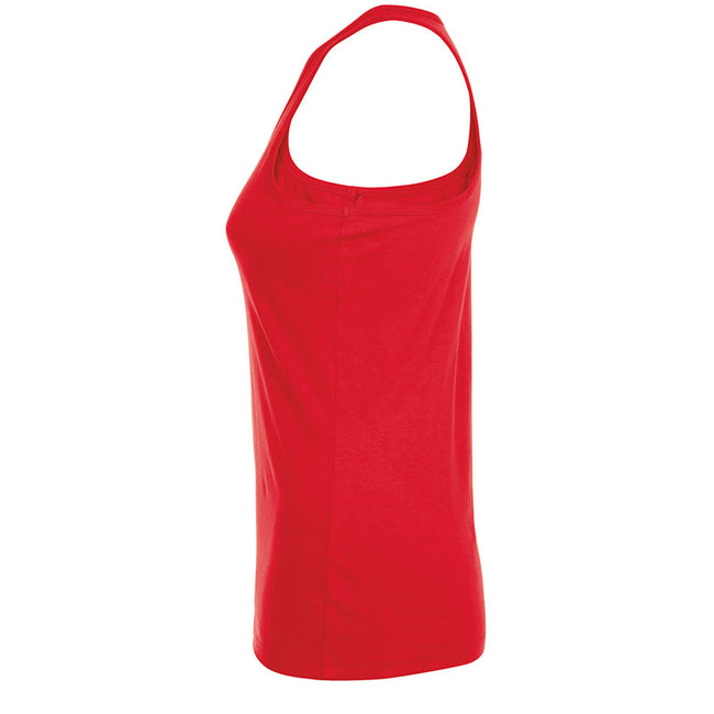 Red - Side - SOLS Womens-Ladies Justin Sleeveless Vest